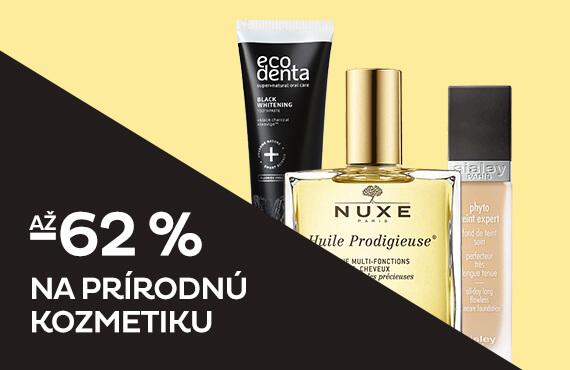 Prírodná kozmetika so zľavou až -62 %