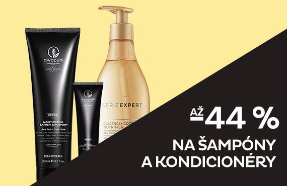 Šampóny a kondicionéry až -44 %