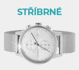 Stříbrné hodinky ve výprodeji