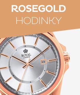 Pánské růžově zlaté hodinky