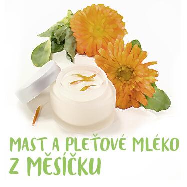 Recept - Mast a pleťové mléko z Měsíčku lékařského
