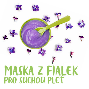 Maska z fialek pro suchou pleť