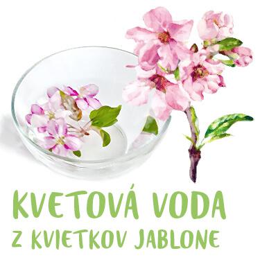 Kvetová voda z kvietkov jablone
