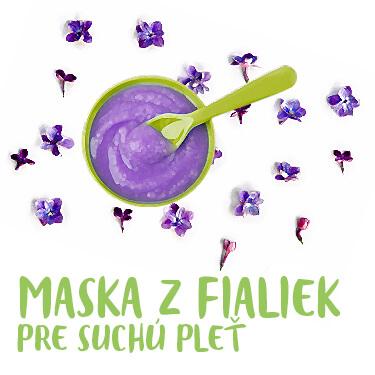 Maska z fialiek pre suchú pleť