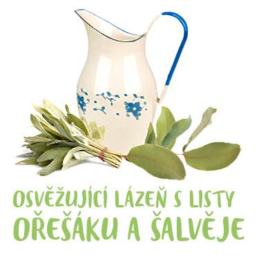 Návod Osviežujúci kúpeľ z listov orecha a šalvie