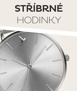 Dámské stříbrné klasické hodinky