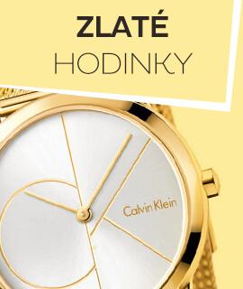 Dámské zlaté klasické hodinky