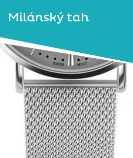 Dámské klasické hodinky s řemínkem z milánského tahu