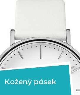 Dámské klasické hodinky s koženým řemínkem