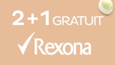 Rexona 2+1 gratuit