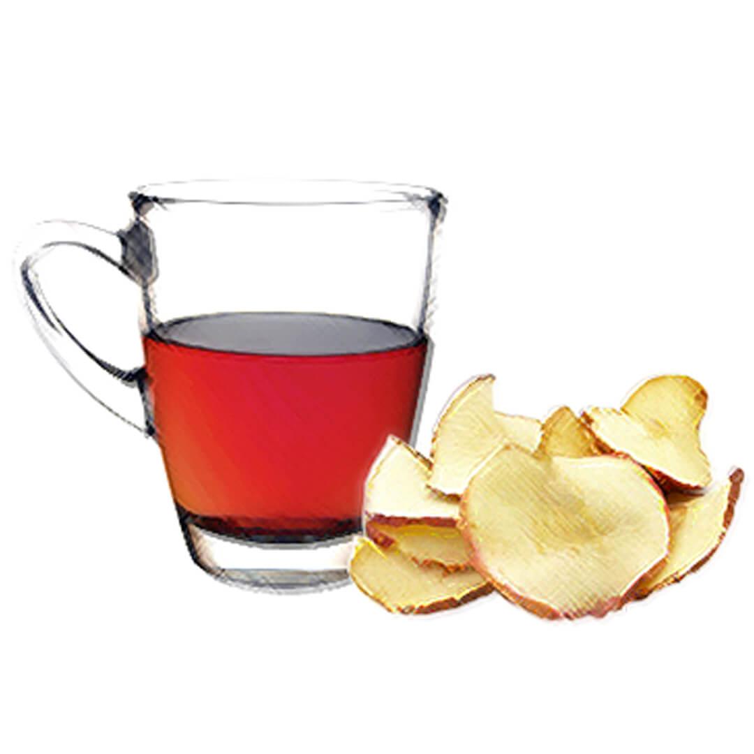 Čaj a kuličky z jablečných křížal