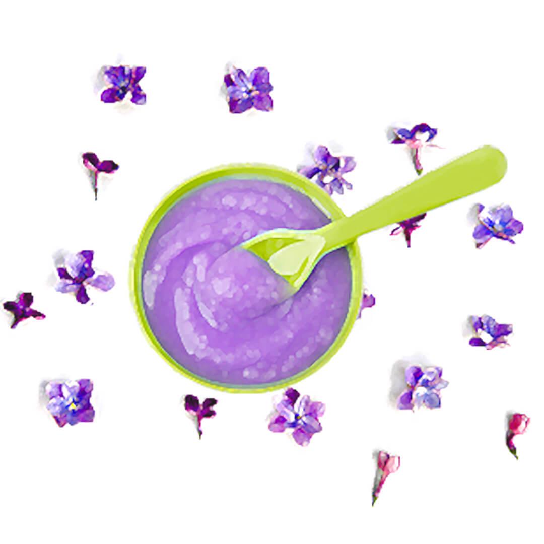 Obrázek Maska z fialek pro suchou pleť