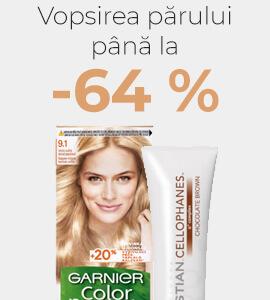 Vopsirea părului până la -64 %