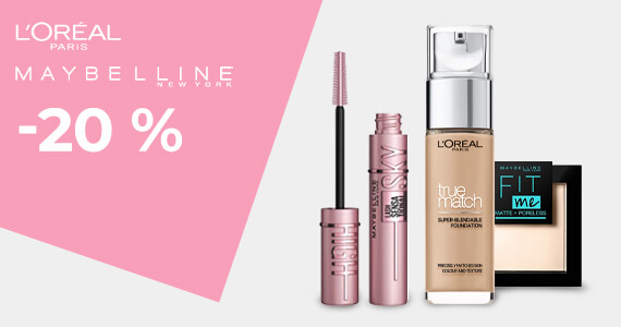 Maybelline -20 %
