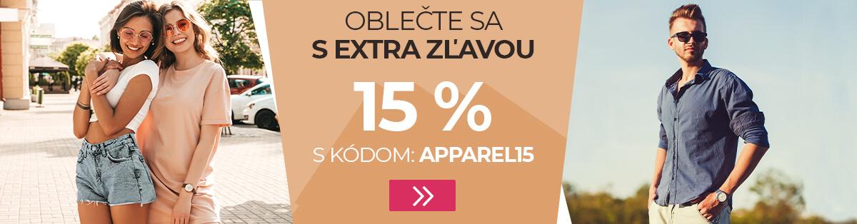 Oblečte sa s extra zľavou 15 %