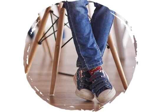 Zdravotné školské papuče pre správny vývoj chodidiel