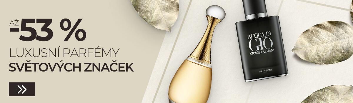 Luxusní parfémy světových značek až - 53 %