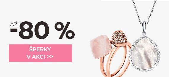 Šperky se slevou až -80 %