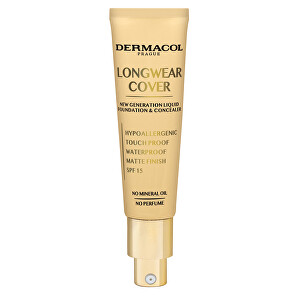Dermacol Dlouhotrvající krycí make-up Longwear Cover SPF 15 (Liquid Foundation & Concealer) 30 ml 02 Fair