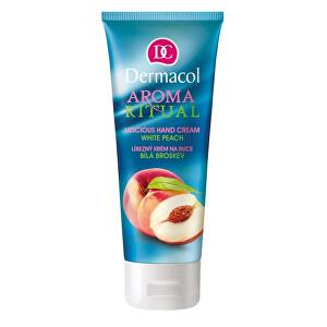 Dermacol Líbezný krém na ruce bílá broskev Aroma Ritual (Hand Cream White Peach)