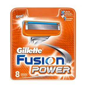 Gillette Náhradné hlavice Gillette Fusion Power 8 ks