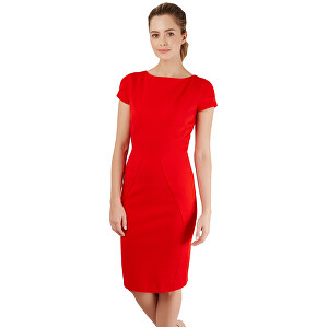 Closet London Dámske šaty Closet Body-con Ponte Pencil Dress Red M