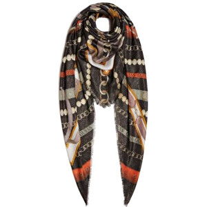 Guess Dámský šátek Printed Kefiah 130X130 AW8465 MOD03 Black