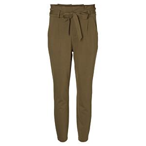 Vero Moda Dámske nohavice VMEVA HR LOOSE PAPERBAG PANT NOOS KI Ivy Green XS/32
