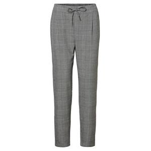 Vero Moda Dámske nohavice VMEVA MR LOOSE STRING CHECKED PANTS NOOS Grey/White XS/32