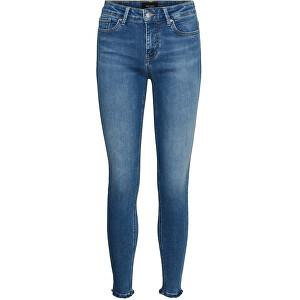 Vero Moda Dámske džínsy VMPEACH 10255750 Medium Blue Denim S/32