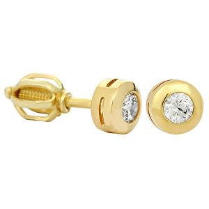 Brilio Náušnice zo žltého zlata s kryštálom 236 001 00635