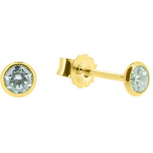 Brilio Nežné náušnice kôstky zo žltého zlata P005.704001.70.70