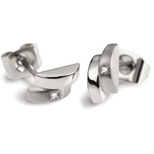 Boccia Titanium Moderní titanové náušnice s diamantem 0552-02
