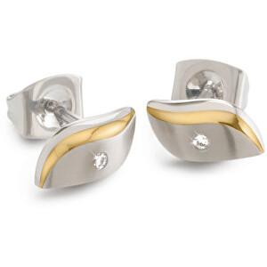 Boccia Titanium Pozlacené titanové náušnice s diamantem 05044-04