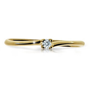 Cutie Diamonds Třpytivý prsten ze žlutého zlata s briliantem DZ6733-2948-00-X-1 53 mm