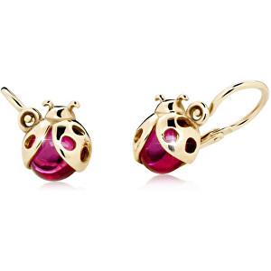 Cutie Jewellery Zlaté dětské náušnice Berušky C2008-10-40-X-1