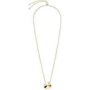 Calvin Klein Pozlátený oceľový náhrdelník Spinner KJBAJN100200