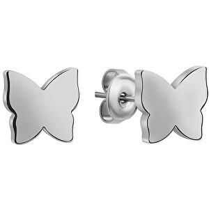 Emily Westwood Oceľové náušnice Motýliky WE1036S