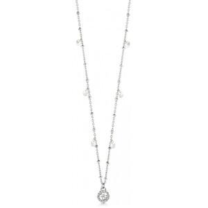 Guess Oceľový náhrdelník s trblietavými prívesky Galastic Girl UBN20082