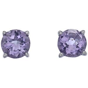Hot Diamonds Strieborné náušnice Hot Diamonds Anais Ametyst AE002