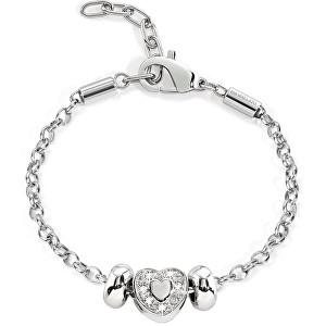 Morellato Ocelový náramek Drops Heart SCZ169