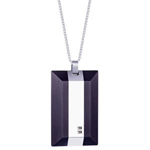 Preciosa Pánsky oceľový náhrdelník s kryštálmi Arne 7314 40