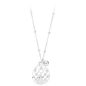 S`Agapõ Oceľový náhrdelník s lienkou Gaia SGA02