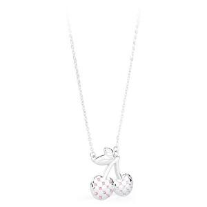 S`Agapõ Oceľový náhrdelník s čerešňami Sweet SWE04