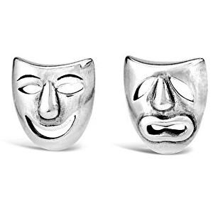Silvego Strieborné náušnice divadelné masky PRM11187