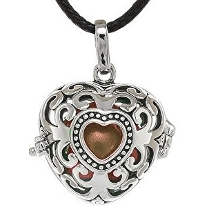 MUMMY BELL Dámsky náhrdelník Rolnička Srdce Vintage K9SH18