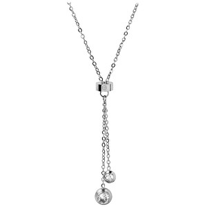 Troli Oceľový náhrdelník s kryštálmi