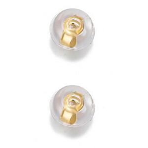 Troli Uzávěr na náušnice 2 kusy - 1 pár Silicone Gold