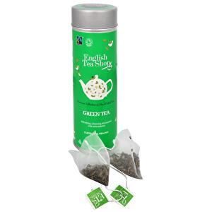 Zobrazit detail výrobku English Tea Shop Čistý zelený čaj 15 pyramidek sypaného čaje v plechovce