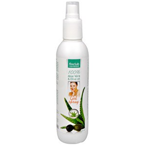 Finclub Gel spray Aloe vera & olivový olej 200 ml